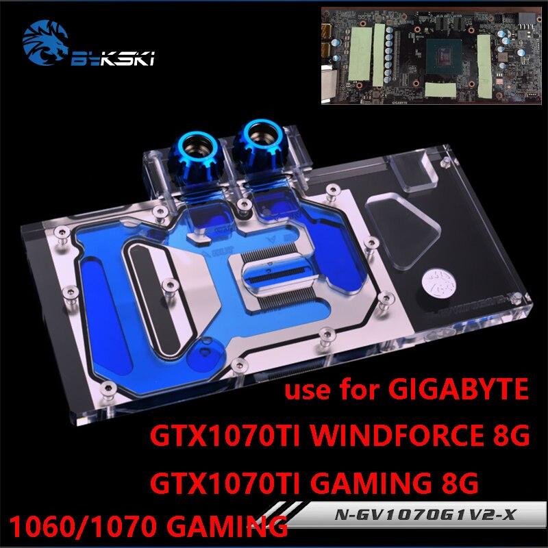 BYKSKI Water Block use for GIGABYTE GTX1070TI-GAMING-8G/GV-N1070WF2OC-8GD(rev2.0)/1070 G1 GAMING-8G rev.2.0/AORUS GTX1070TI