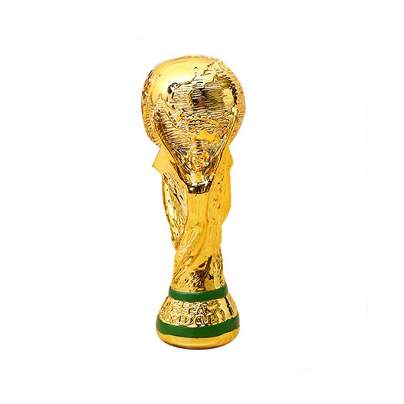 Golden Color Resin World Cup Football Champion Souvenir Mascot Toy