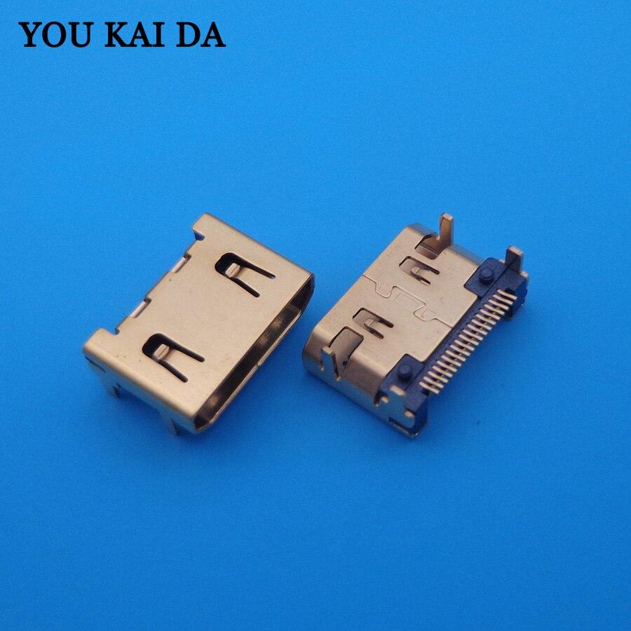 30 pz Nuova DC Power Jack Micro USB JACK Spina Fine presa Mini HDMI per netbook/tablet pc/mp3/mp4/Sony/DELL/Asus pin 19 P