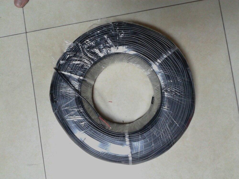 1 بكرة 300M الأسود كابل ، 22AWG ، 2 النواة ، PVC كابل 300V 80 ° c