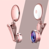 Beauty fill light self-timer flash lens LED photography 4K HD wide-angle lens 50X micro lens fisheye lens