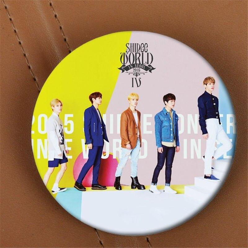 Фотоальбом Youpop KPOP, в стиле «Мир SHINee», брошь в виде K-POP, аксессуар для одежды, шляпа, украшение для рюкзака HZ1612