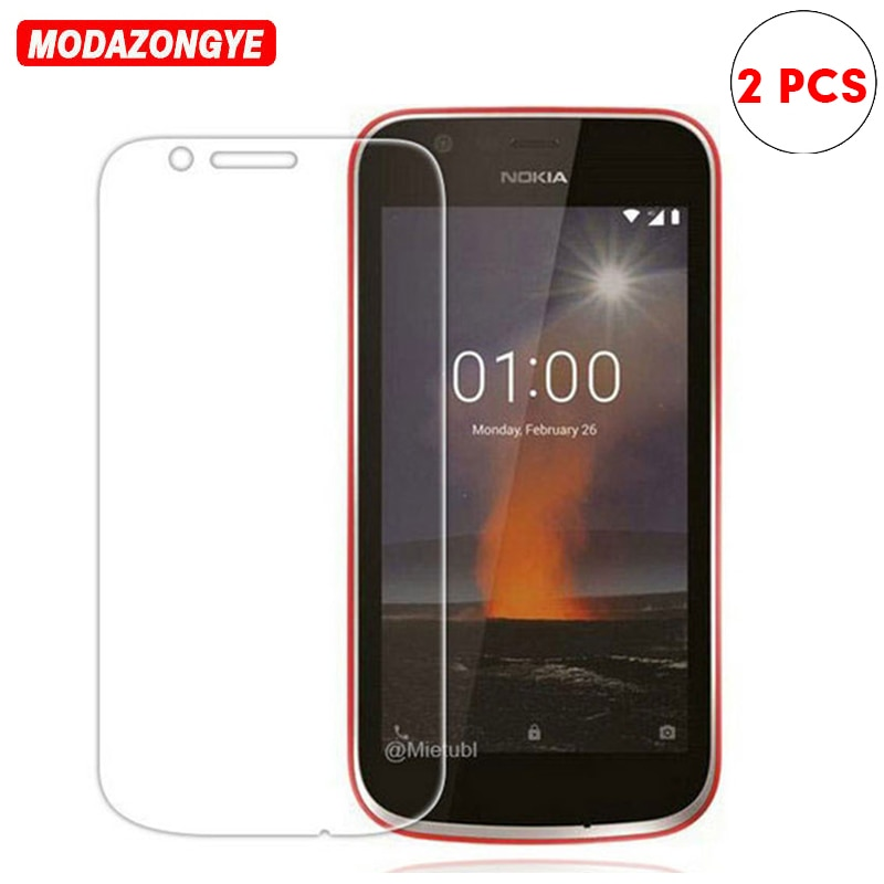 2 uds para Nokia 1 vidrio templado Nokia 1 2018 película protectora de pantalla 9H vidrio Protector para Nokia1 Nokia1 TA-1047 TA-1056 TA-1079