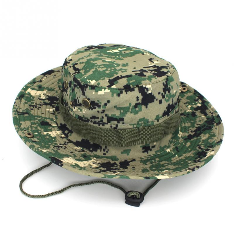 Унисекс Панама Boonie шляпа со шнуровкой камуфляжная непальская Кепка Рыбацкая шляпа Военная камуфляжная шляпа для джунглей