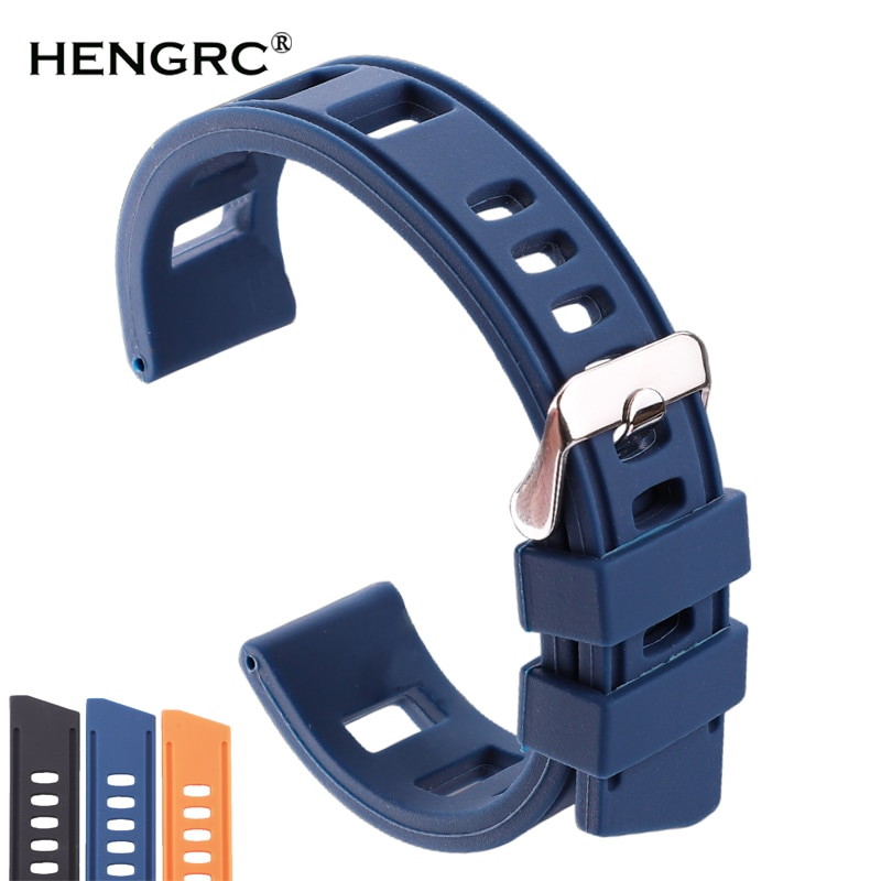 rubber watchband for tissot watch strap sports t touch t013420a t047 t33 bracelet man silicone bracelet 20mm 21mm orange black Rubber Watchbands Bracelet 20mm 22mm Orange Blue Black Women Men Waterproof Soft Silicone Watch Band Strap With Polished Buckle