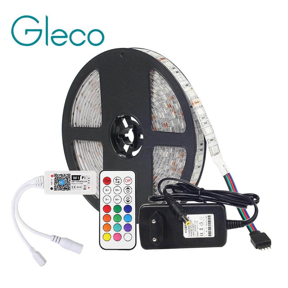 DC12V LED Streifen 5050 RGB RGBW RGBWW Mit WiFi Controller RF Remote + 12V Netzteil Adapter, APP Control Flexible Streifen Licht