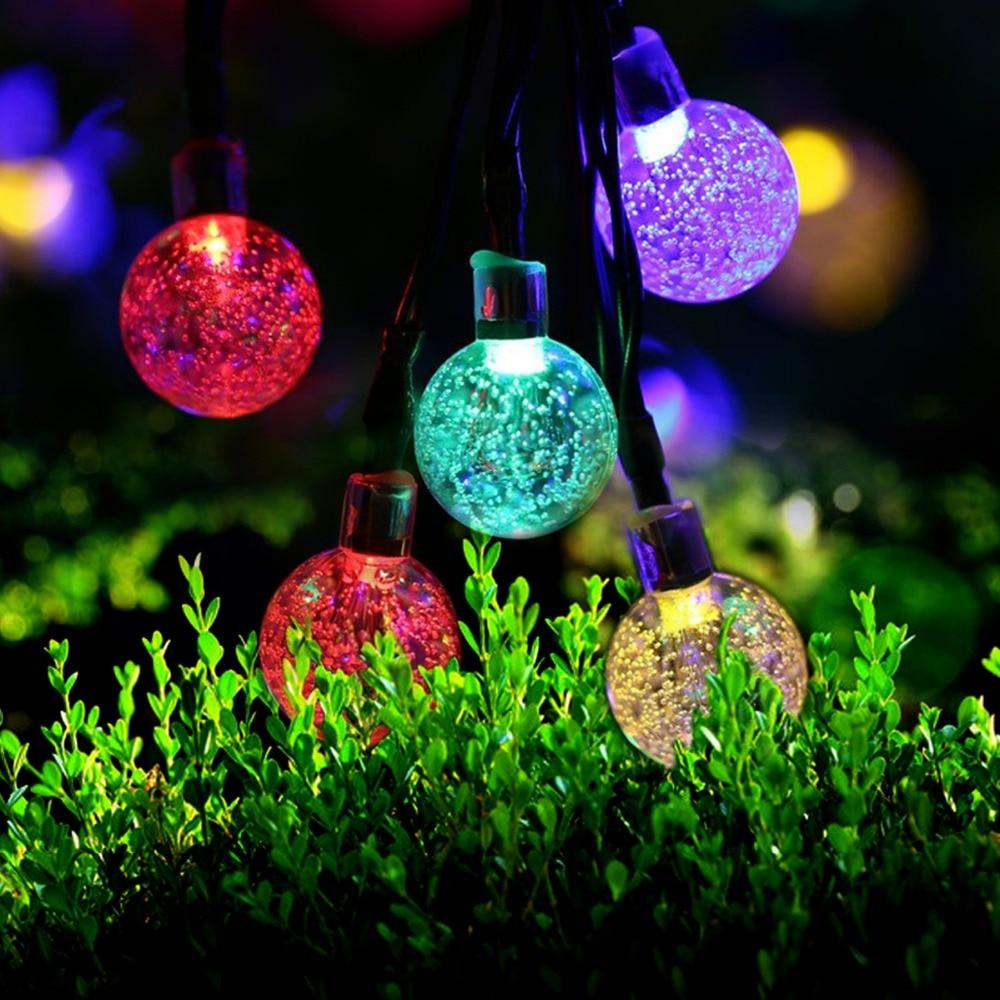 5m 30 Led Ball solar string light garden Led christmas lights wedding decor garland water outdoor solar powered lamp