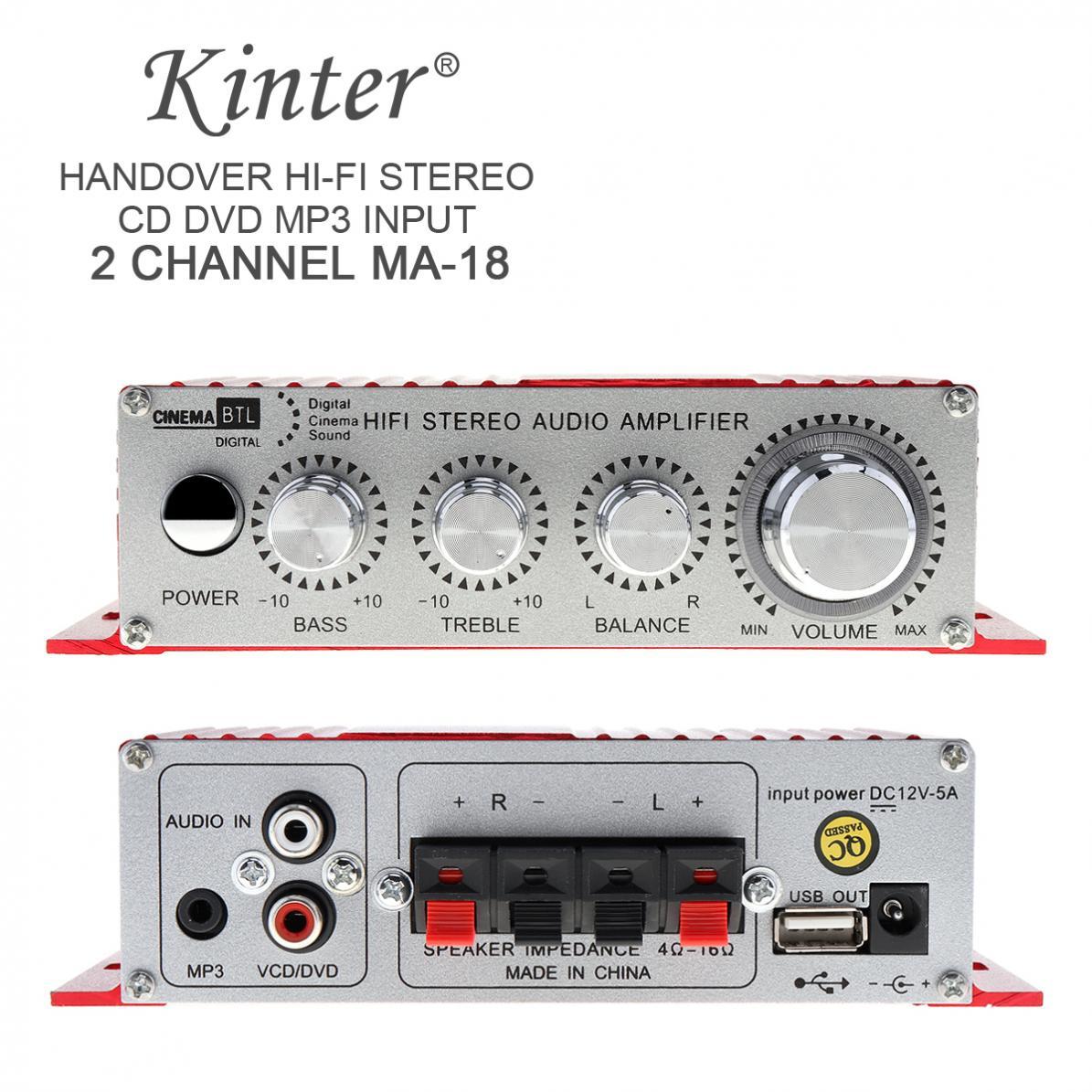 Red MA-180 Mini USB Car Boat Audio Auto Power Amplifier 2CH Stereo HIFI Amp 12V/5A