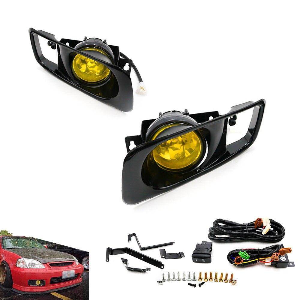 Nuevo Amarillo/claro Luz de niebla de la lámpara halógena ajuste 99-00 para HONDA CIVIC 2/3/4, El dr. EK los JDM Kit EX DX LX SI señor HB HX TT100479