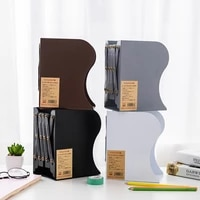 retractable bookend supports adjustable bookshelf large steel plate bookend desk book organizer for stationery student readers