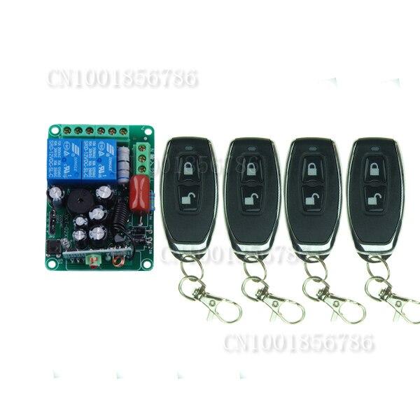 AC220V 2CH RF اللاسلكية التحكم عن بعد التبديل مع 4 قطعة الارسال
