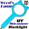 Portable Woods מנורה לחישוב ויטיליגו עור Analyzer מחשב פטריות פטריות שתן הבדיקה עבור חתול Blacklight UV מנורה מגדלת