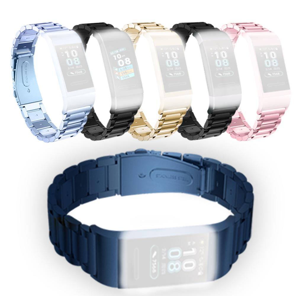 Pulsera de Metal para Huawei Band 3/ 3PRO, reloj de pulsera inteligente deportiva de seguimiento, pulsera de repuesto para reloj