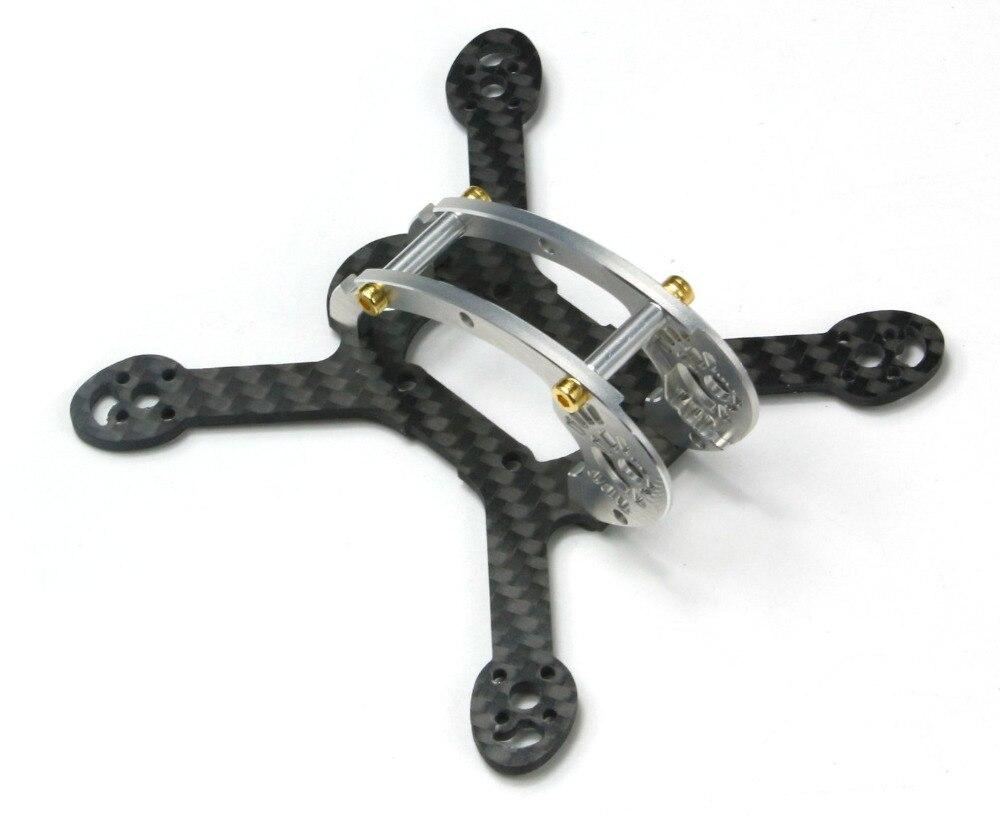 Kit de Micro Dron de carreras con visión en primera persona con marco de fibra de carbono 1103 1104 motores sin escobillas, base de rueda 100mm HOBBYMATE