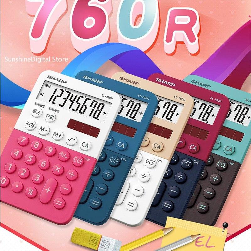 Calculadora eletrônica de escritório e EL-760R, mini calculadora compacta de cores de doces, desenhos animados fashion