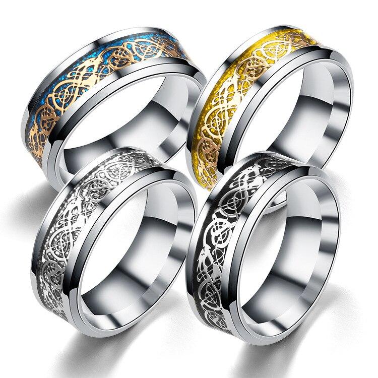 Мужское серебряное кольцо Monla, серебряное кольцо из кельтского сплава с драконом, 8 мм