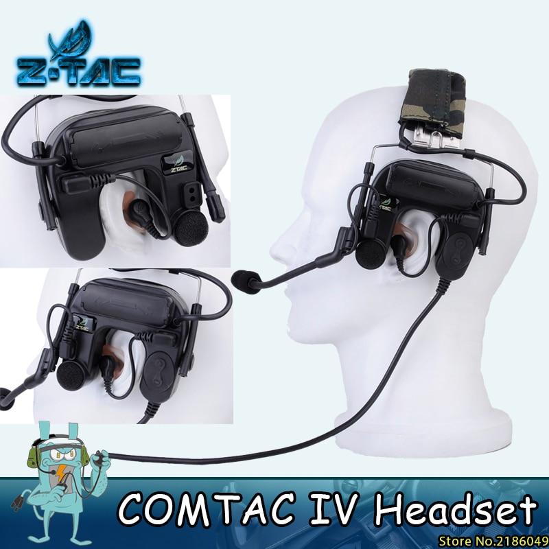 Z Taktik Airsoft Comtac IV Kulaklık Gürültü Iptal Havacılık Kulaklık Savaş comtac IV Taktik Kask Kulaklık Z038
