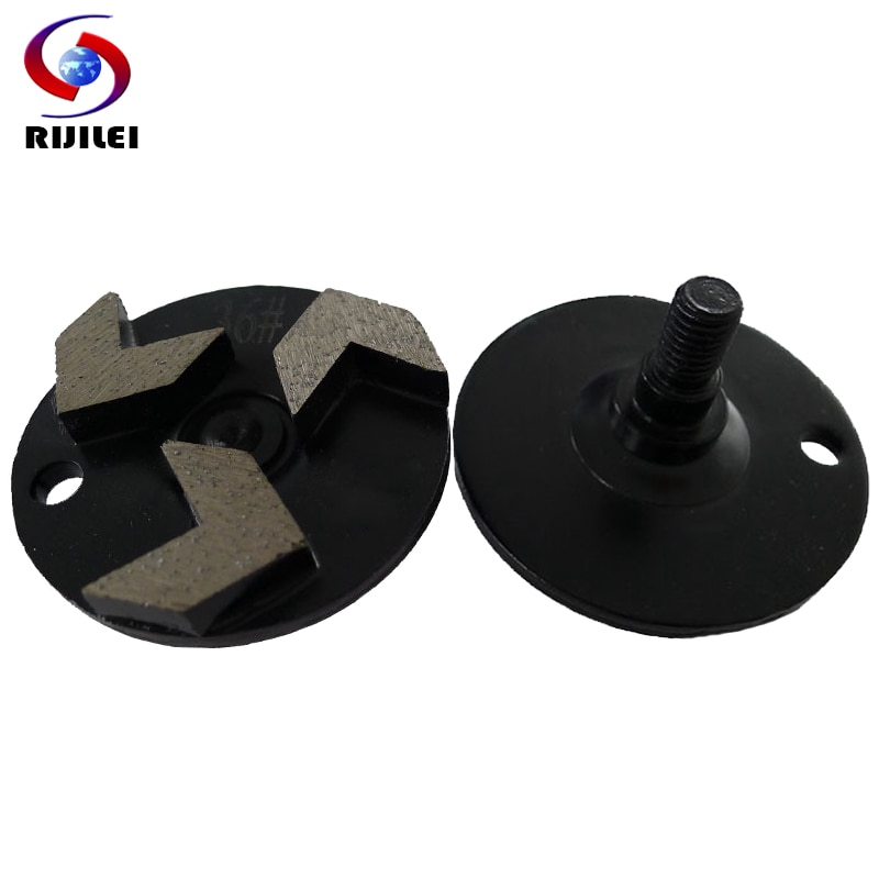 RIJILEI, 30 uds, placa de pulido de diamante redi-lock para herramientas de molienda de suelo de hormigón, disco abrasivo de mármol, almohadilla para pulir zapatos W60