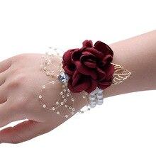 Свадебный корсаж с жемчужинами, аксессуары, браслет подружки невесты для девочек, Мужская бутоньерка для жениха, украшение для вечеринки