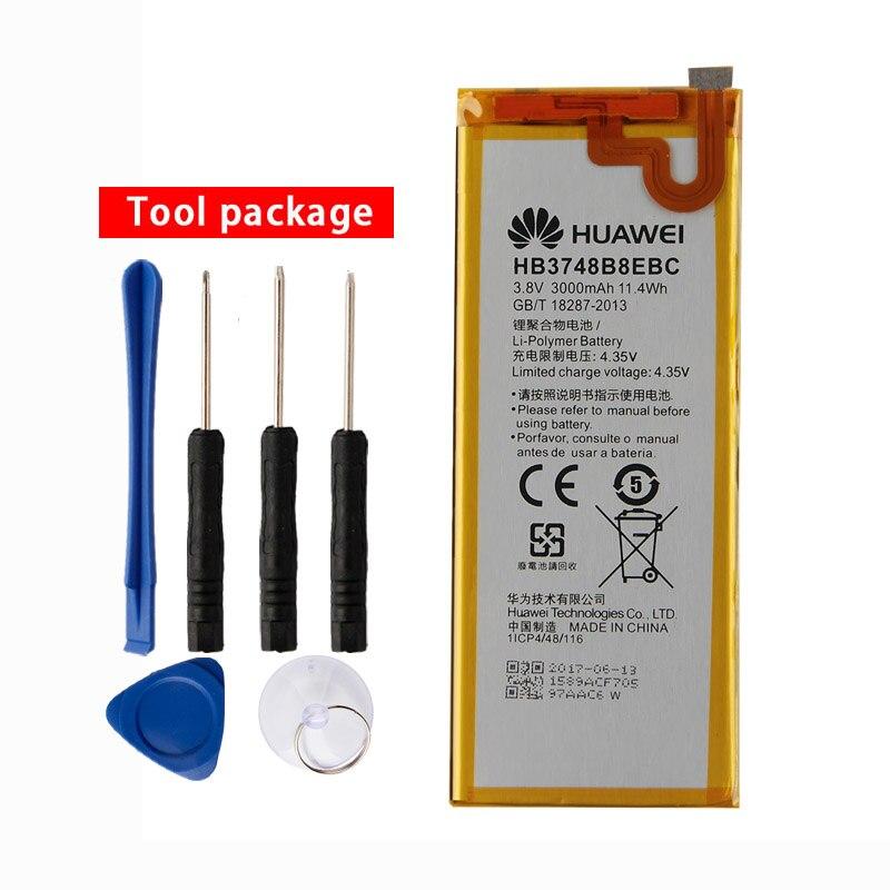 Original HB3748B8EBC de la batería del teléfono para Huawei Ascend G7 G7-TL100 C199 C199-CL00 G760 3000mAh
