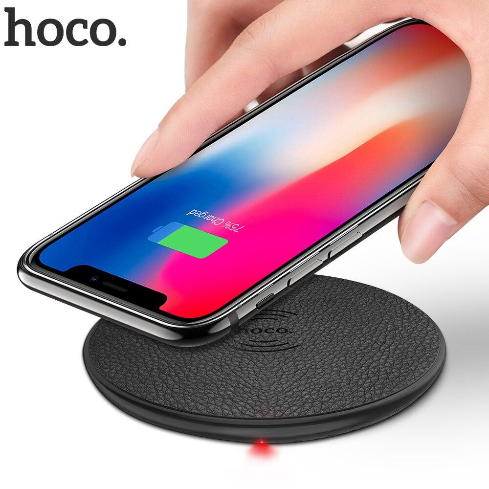 HOCO אלחוטי מטען עבור iPhone X XR Xs 8 Qi טעינה אלחוטי Pad עבור סמסונג S9 S8 בתוספת שיאו mi mi 9 USB טלפון נייד מטען