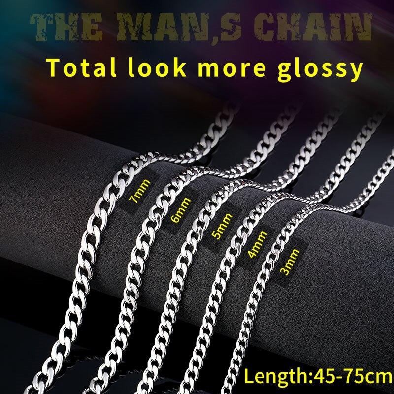 Beier 316L edelstahl trendy kette breite 3mm/4mm/5mm/6MM halskette jungen mann Herrisch persönlichkeit HIPHOP Schmuck LBN1025