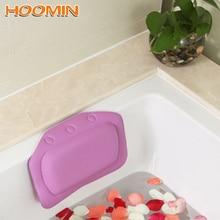 HOOMIN 21*31cm SPA bain oreiller cou baignoire coussin avec ventouse doux appui-tête salle de bain fournitures accessoires de bain