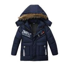 Hiver chaud épaississement col de fourrure enfant manteau vêtements dextérieur pour enfants coupe-vent polaire Liner bébé garçons vestes pour 100-120cm
