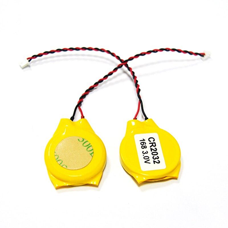 CR2032 2032 2 unids/lote cable de batería 2pin Laptop motherboard BIOS CMOS batería con cable desmontar accesorios y piezas de batería