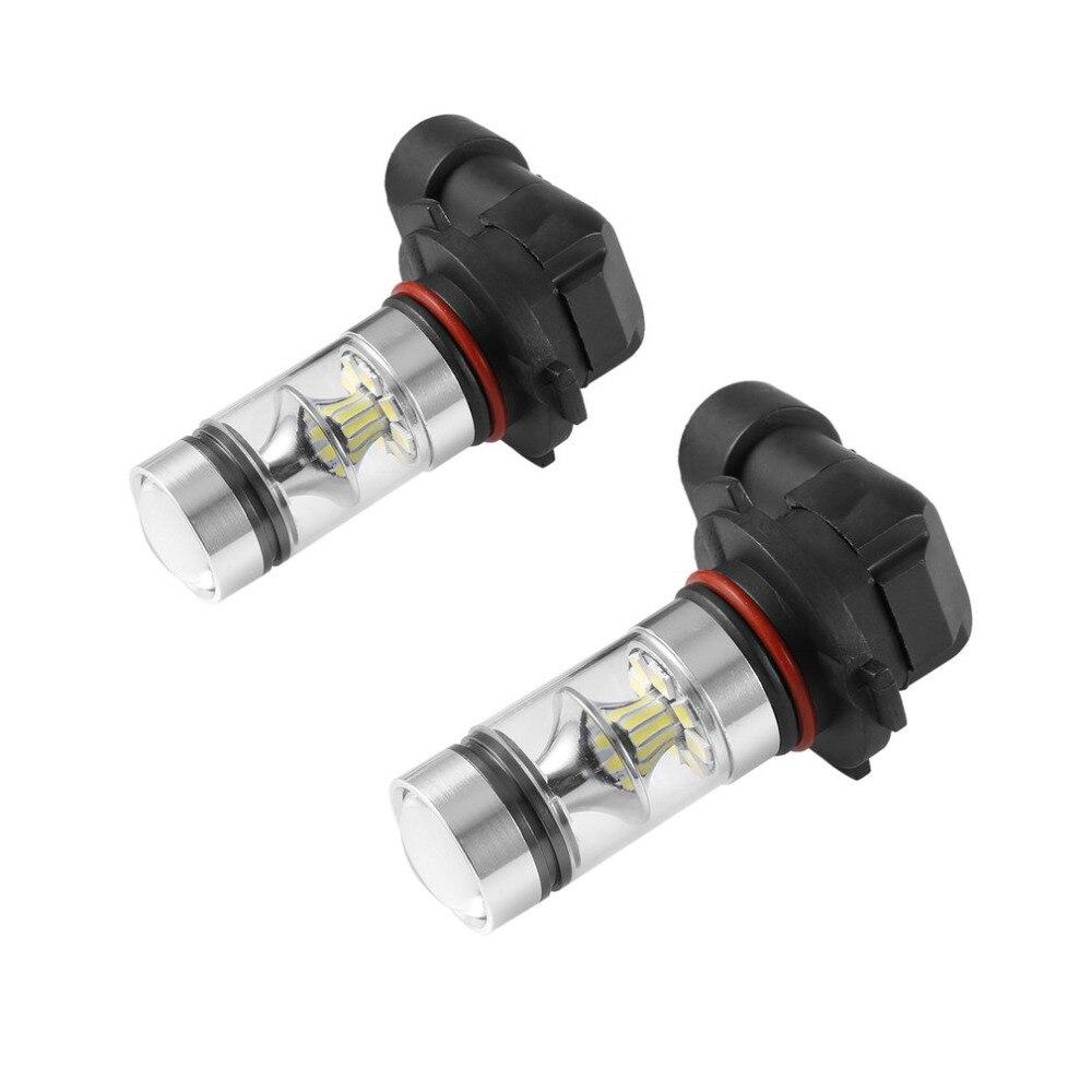 2 unids/set 100W H10 9145, 9140, 9040, 6000K de alta potencia Ultrablanco LED bombillas de luz antiniebla Universal para coche camión de repuesto