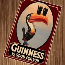 Guinness-affiches de propagande de bière   Affiche rétro Vintage Kraft, toile de peinture murale, autocollant cadeau de décoration de maison