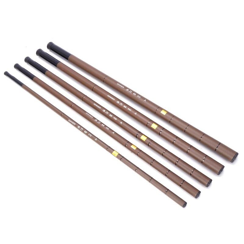 Venda quente vara de pesca ultraleve pólo super duro telescópica fibra de carbono 2.7-6.3m