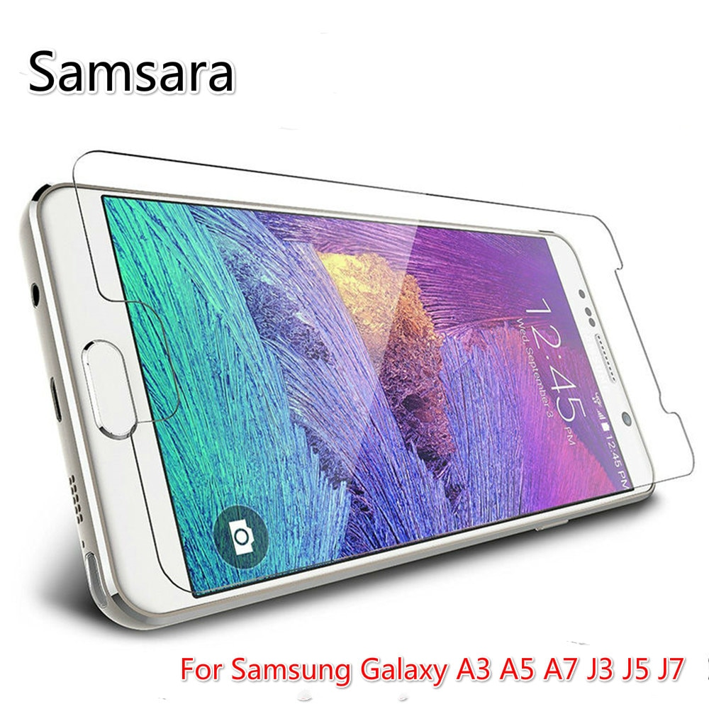 2.5D Tempered Glass For Samsung Galaxy J3 J5 J7 Screen Protector For Samsung A3 A5 A7 2016 2017 Prot