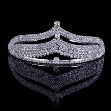 Bride Jewelry Vintage Crystal Tiara Bridal Hair Accessories Wedding Quinceanera Rhinestone Tiaras Crowns Pageant