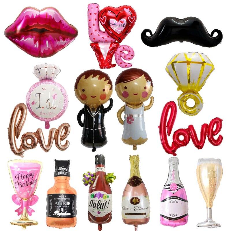 Feliz 30th cumpleaños fiesta boda aniversario adulto decoración novio novia corona copas de champán botella de whisky globo de la hoja