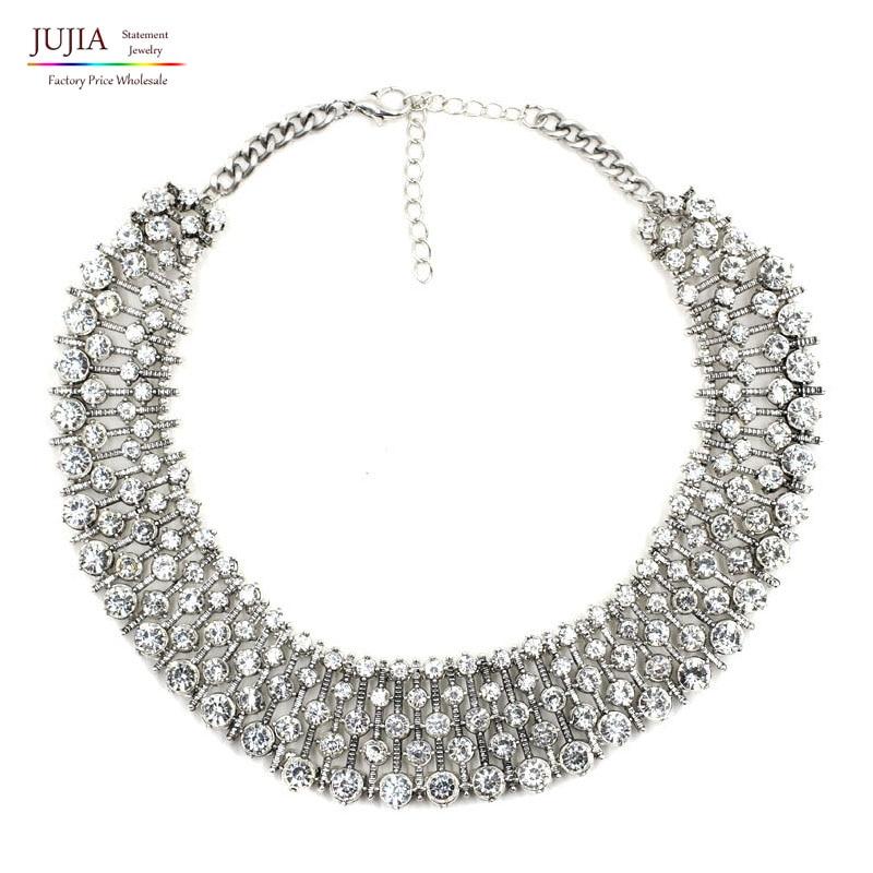 2 color venta al por mayor 2019 nueva collar de Kate Middleton de lujo de moda gargantilla COLLAR COLGANTE de cristal joyería DE LA DECLARACIÓN
