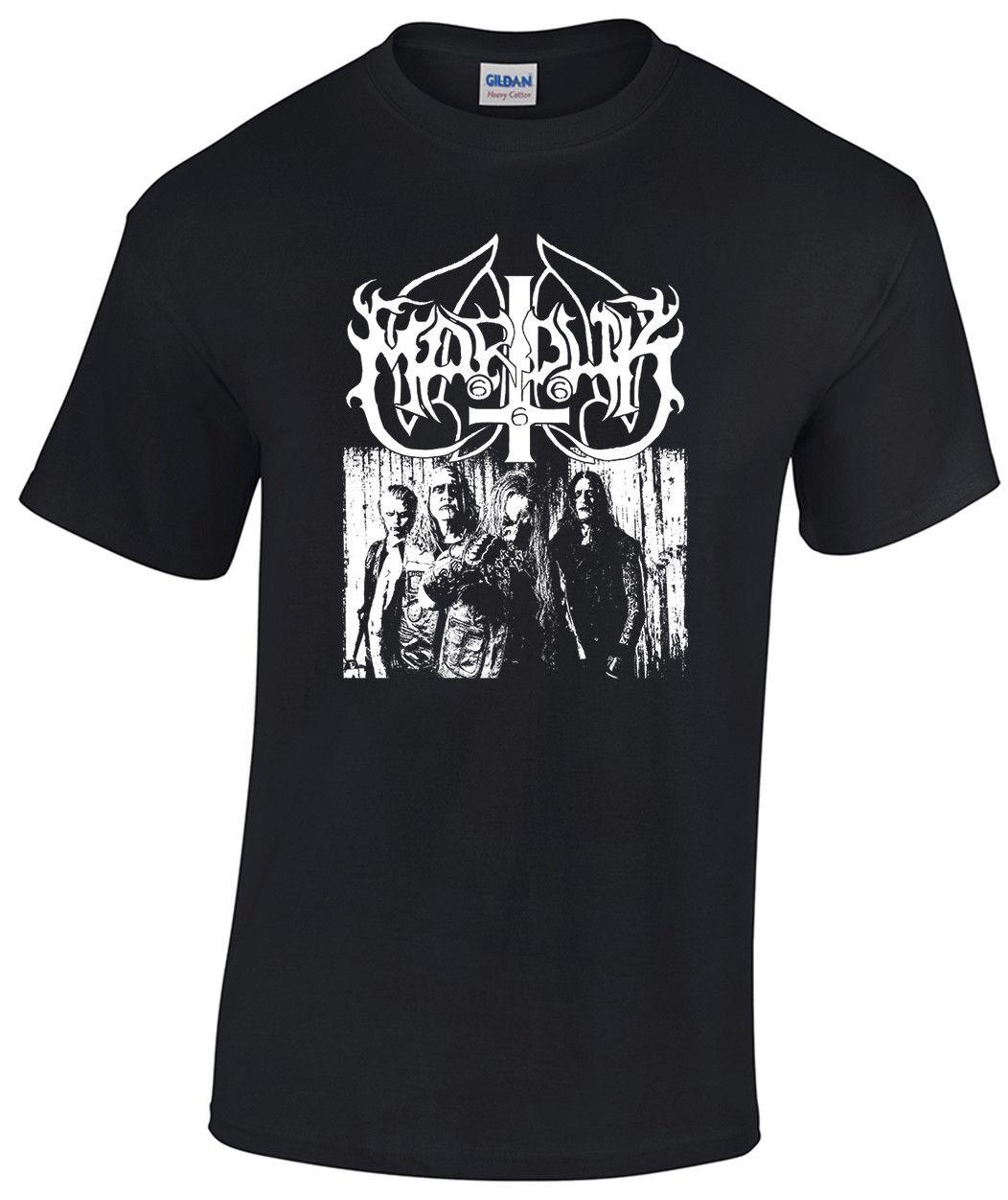 MARDUK camiseta 1349 neblina funeraria oscura Watain Tsjuder Impaled Nazarene nueva moda camiseta estampado de letras Top Tee
