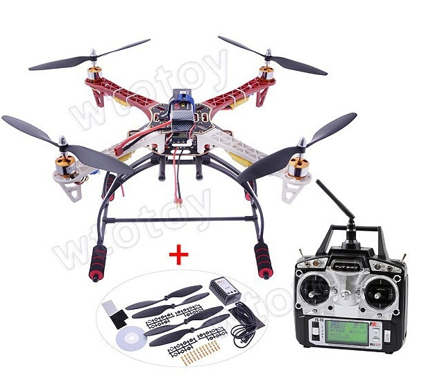 RC FPV RTF Quadcopter FPV Kit de Flamewheel + aterrizaje + KK2.9 controlador OSD + Motor + ESC DJI F450 Multicopter aérea