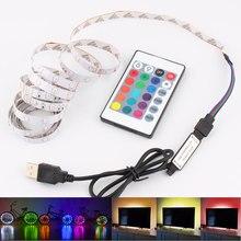 Светодиодная лента, светящаяся лента RGB для подсветки ТВ, 1-5 м, 5 В