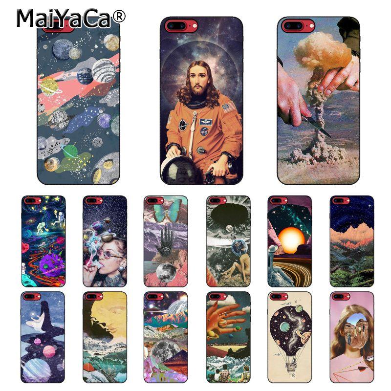 Kunst Ästhetischen Trippy Psychedelic Medikament Cosmic Telefon Fall Für iphone 11 12 Pro Max 8 7 6 6S Plus X XS MAX 5 5S SE XR 12mini