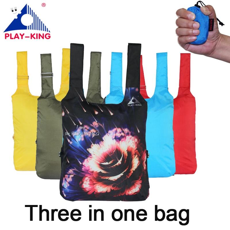Mochila PLAYKING con estampado de animales, mochilas escolares para mujer, bolsa de viaje, bolsa plegable de nailon para senderismo y acampada, impermeable para exteriores para hombre