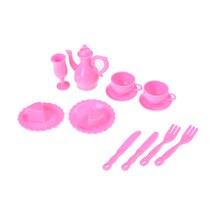 12 Teile/satz Mini Kunststoff Geschirr Messer Gerichte Für neue Puppe Haus Möbel Küche Geschirre Dekoration Puppenhaus