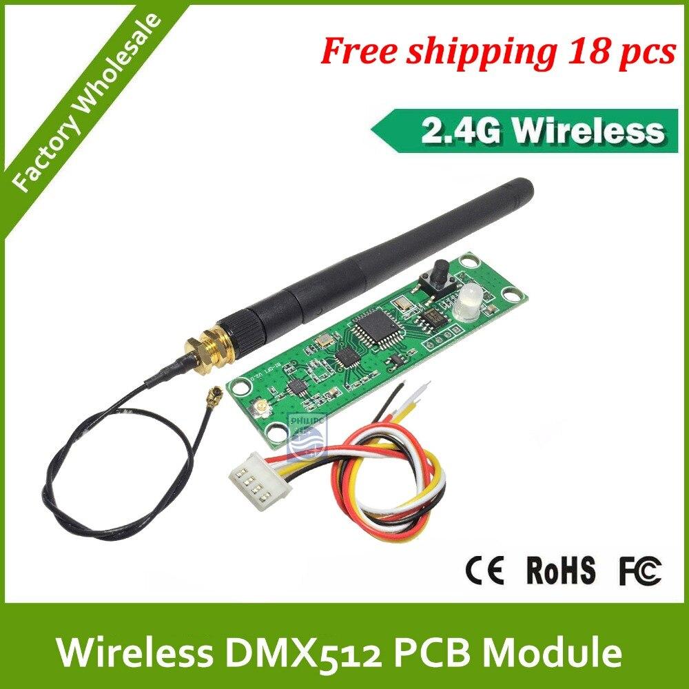 Dhl frete grátis RS485 ou CPU série porta AURT dmx led controlador pcb / dmx sem fio pcb