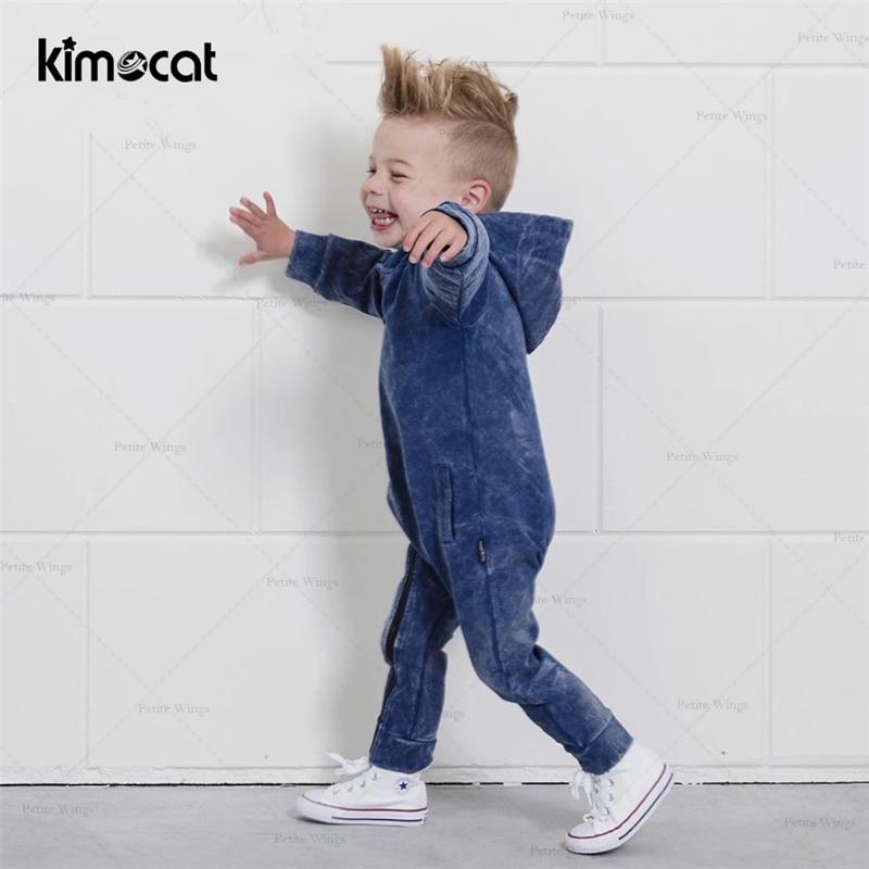 ملابس أطفال أولادي من Kimocat ملابس أطفال قطنية مزودة بغطاء للرأس ملابس أطفال للأولاد حديثي الولادة