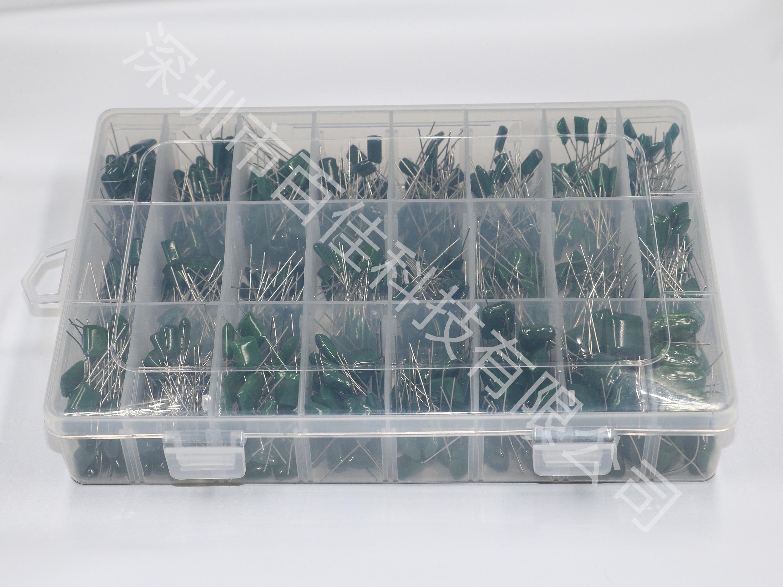 24 arten von 100v boxed polyester polyester film kondensator kit, insgesamt 660 stücke