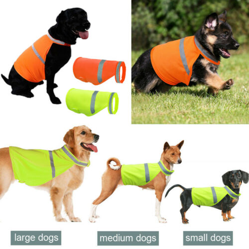 High Visibility Safety Reflective Vest Clothes Jacket Coat for Dog Orange Green