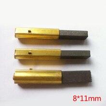 2 pièces/lot, brosses en carbone moteur 8*11mm avec manchon en cuivre pour aspirateur, accessoires pour outils électriques, de haute qualité!