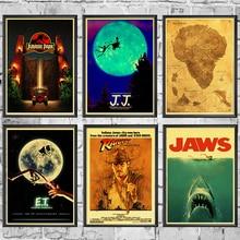 E.T. /Kaken/De Termina/Jurassic Park Spielberg Movie Posters Retro Muur Posters Art Gedrukt Schilderen Muurstickers