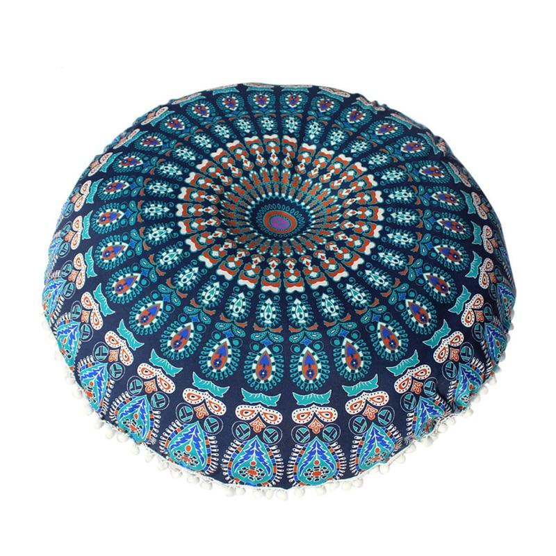 Almohadas grandes de 80x80 cm de Mandala, funda de Cojín de meditación Bohemia, funda de cojín, funda de tapiz Bohemia Retro, 1 unidad