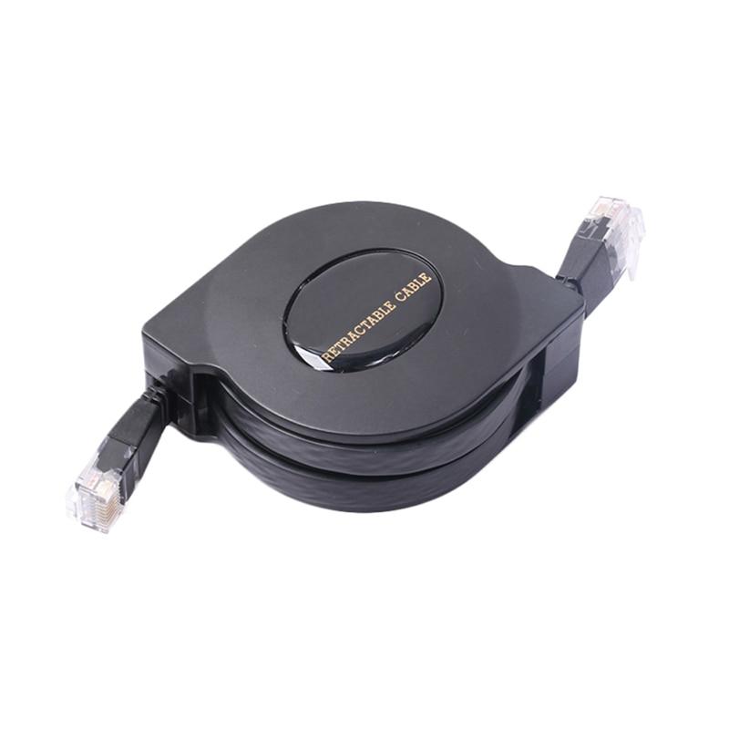 DOITOP CAT6 1000Mbps Retractable LAN Cable Ethernet Cables 1M 2M Full Copper RJ45 Retractable Network Cable Cat 6 Flat Cable